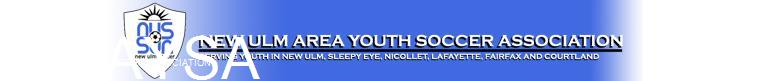 New Ulm Area Youth Soccer Association banner